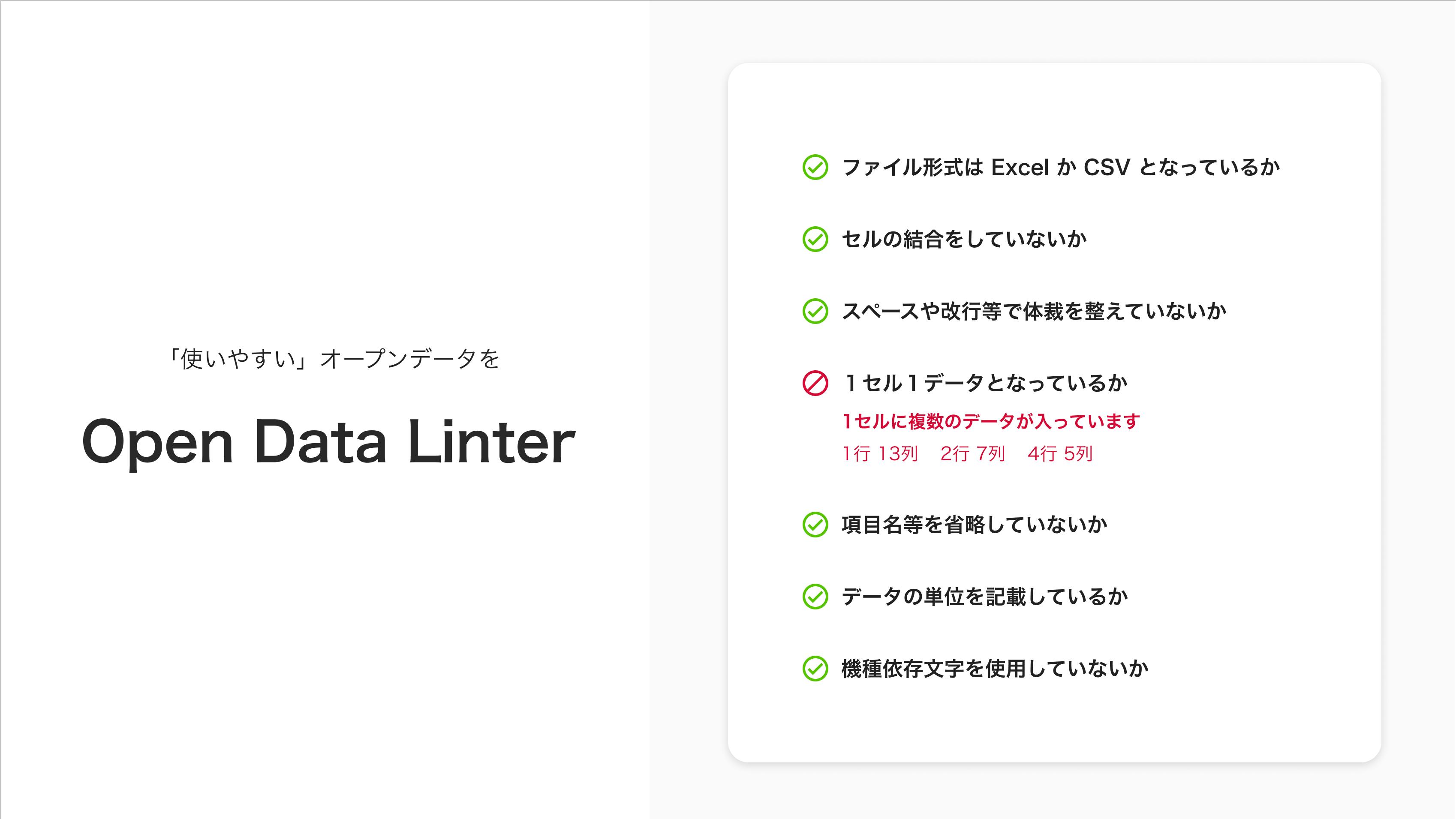 Open Data Linter